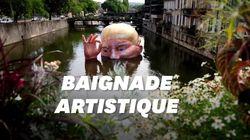 À Metz, Donald Trump pique une tête (géante) dans la