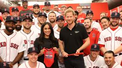 Meghan Markle Makes Surprise Appearance With Prince Harry At MLB Game In
