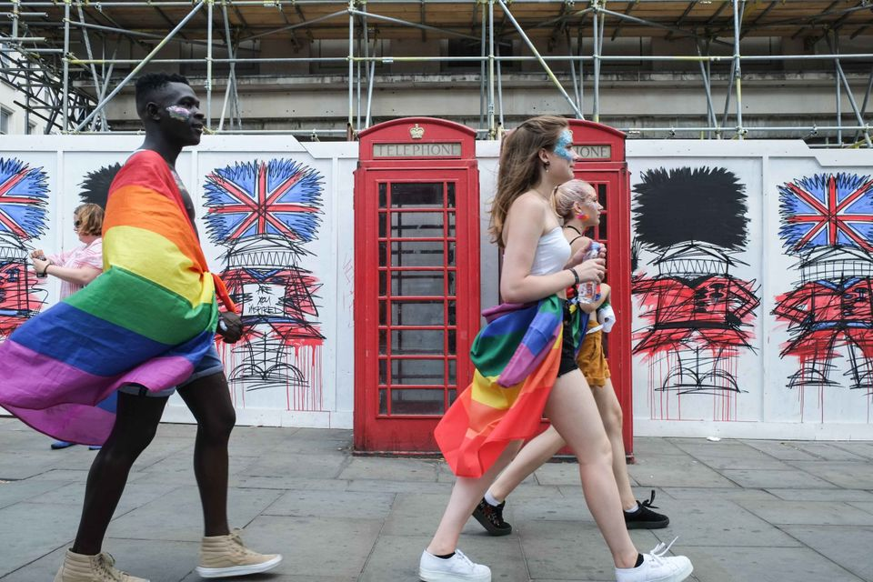 Revellers at last year's Pride celebration in