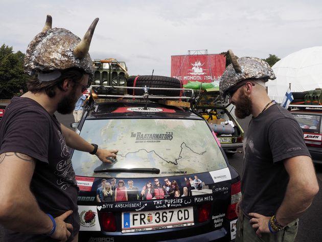 Participantes del Mongol Rally, en una imagen de