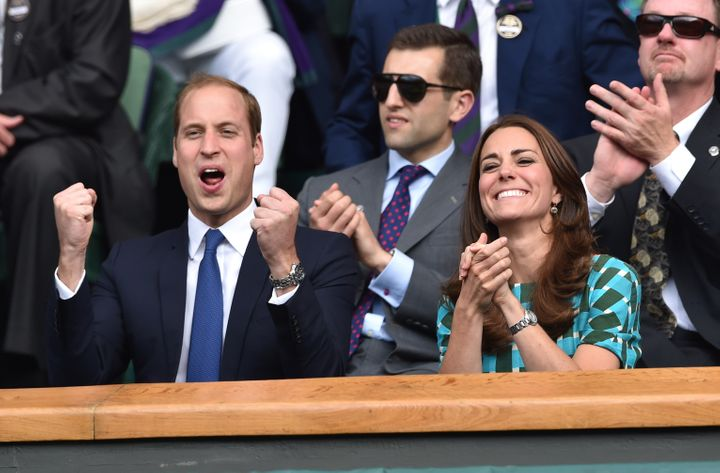 The Duke and Duchess of Cambridge attend the mens singles final between Novak Djokovic and Roger Federer at the Wimbledon Cha