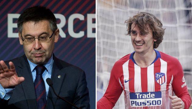 Bartomeu, presidente del Barcelona, y Antoine
