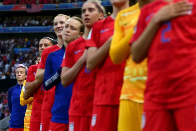 Rapinoe, who began kneeling during the national anthem in 2016, has continued her protest at the World...