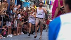 Madrid High Heels Run Defies Gravity And