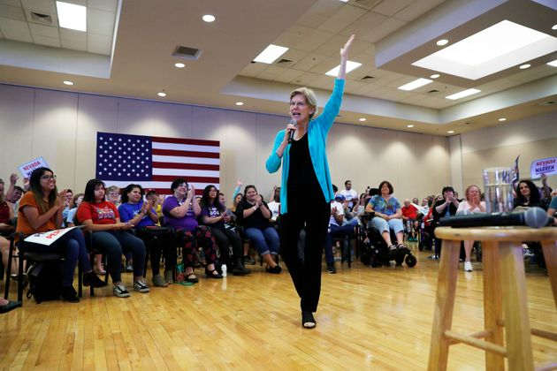 Democratic presidential candidate Elizabeth Warren speaks at a campaign event on July 2 in Las