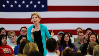 Democratic presidential candidate Sen. Elizabeth Warren, of Massachusetts, speaks at a campaign event, Tuesday, July 2, 2019, in Las Vegas. (AP Photo/John Locher)