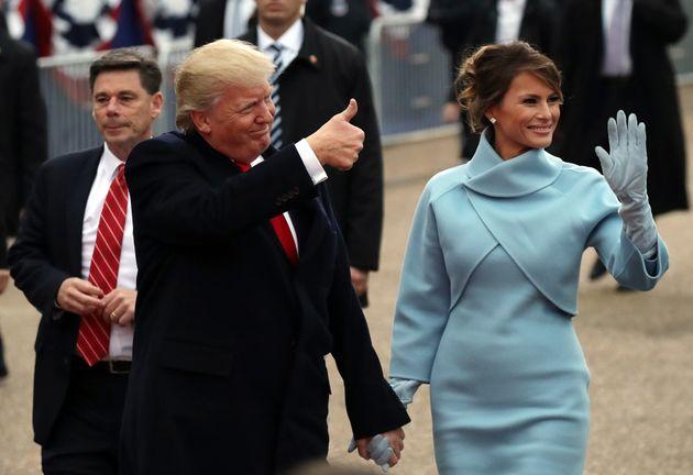Melania Trump lors de la parade d'investiture de Donald Trump à Washington le 20 janvier