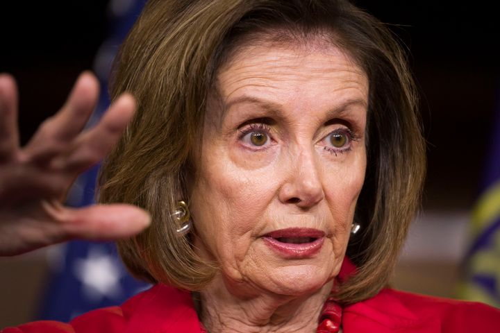 "House Speaker Nancy Pelosi puts the brakes on because she was ""traumatized"" by Ronald Reagan's landslide victory, according t"