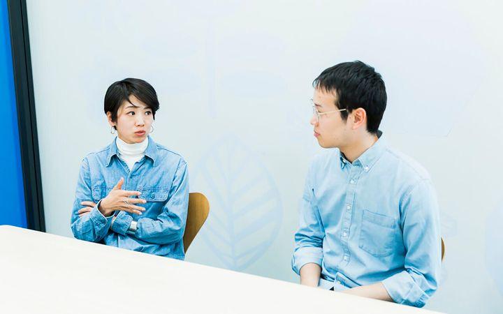 写真左・水野綾子さん、右・佐藤柊平さん