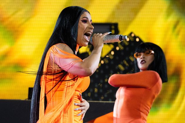 Cardi B performing at