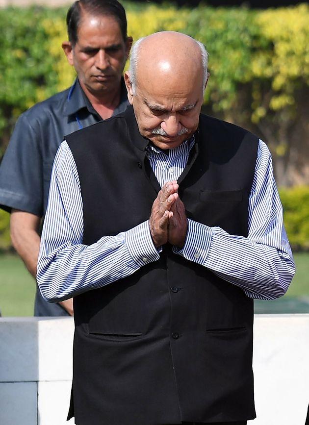 Former cabinet minister M J Akbar in a file