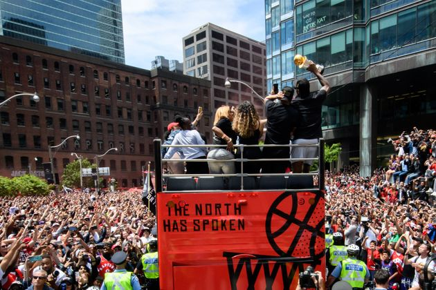 Two million people showed up in the streets of downtown Toronto for the Raptors' victory parade on June...