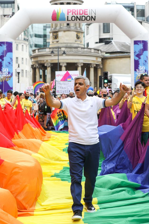 Sadiq Khan helped launch the 2019 Pride parade in central