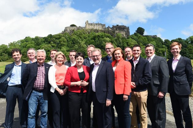 Ruth Davidson and the 13 Scottish Tory MPs who won their seats in