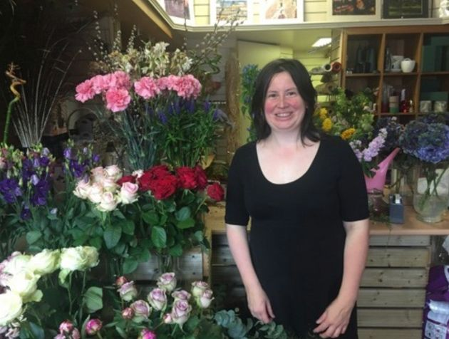 Gabriella Captain says people come into her florist in the Scottish borders town of Melrose and say
