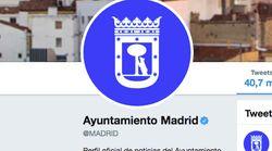 La cuenta del Ayuntamiento de Madrid en Twitter tarda 22 horas en informar de la decisión judicial sobre Madrid