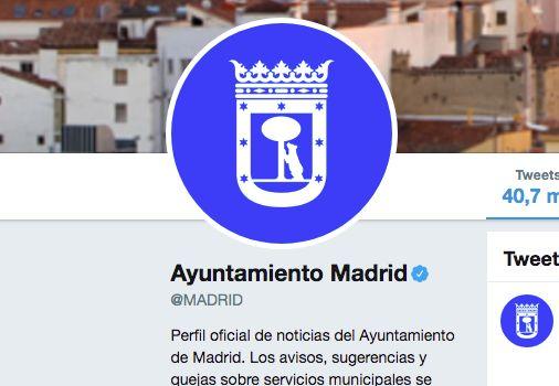 Cuenta de Twitter del Ayuntamiento de