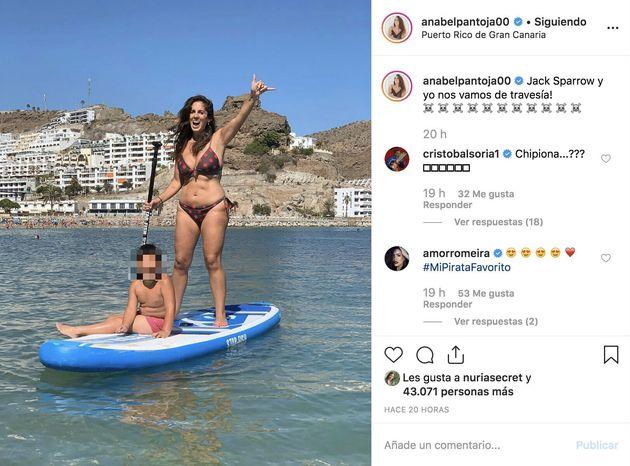Los fans de Anabel Pantoja salen en su defensa tras las críticas a esta foto en