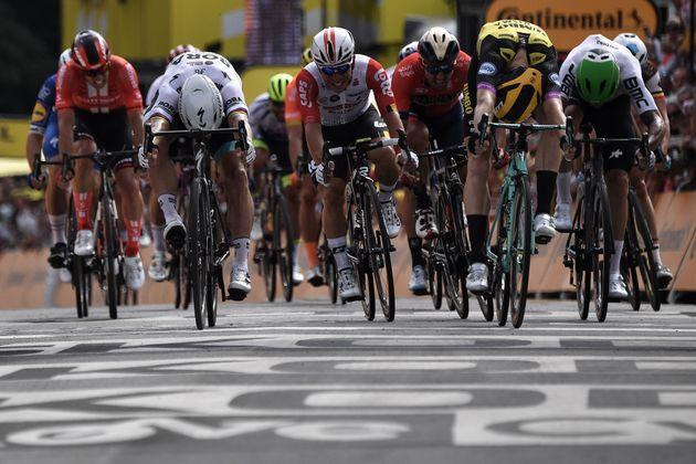Mike Teunissen, premier maillot jaune sur le Tour de