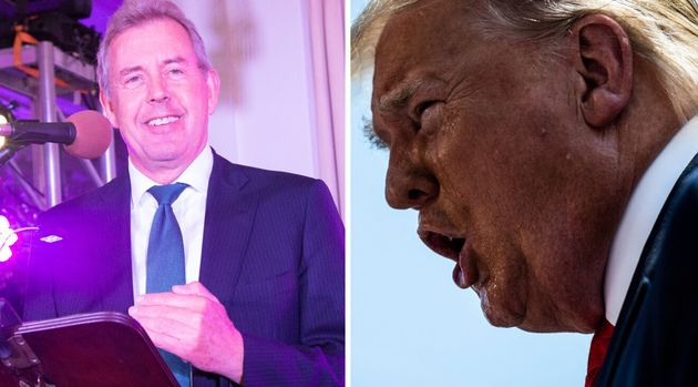 Sir Kim Darroch, left, has been Britain's ambassador to the US since