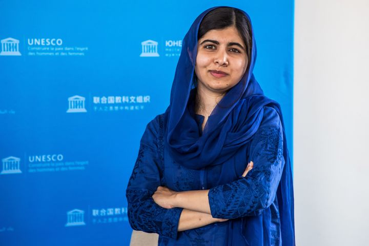 Nobel Peace Prize recipient Malala Yousafzai is seen here at the G7 Development and Education Ministers Meeting in Paris on July 5, 2019.