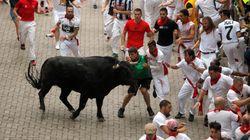Rápido, emocionante y con tres heridos por asta de toro: Así ha sido el primer encierro de San