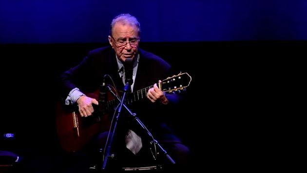 Joao Gilberto en un concierto en