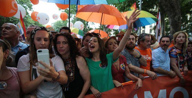 Inés Arrimadas y otros dirigentes de Ciudadanos, en el