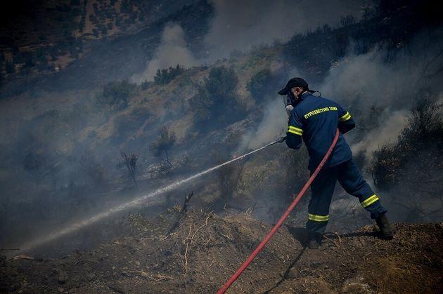 Πυρκαγιές σε Σταμάτα Αττικής και ανατολική Μάνη - Αναζωπύρωση στην