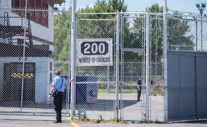 A Canada Border Services Agency immigrantholdingcentreis shown in Laval, Que. on Aug. 15, 2016.