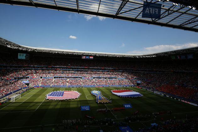 8회째 대회였던 2019 FIFA 여자 월드컵은 기록적인 시청자 수를 확보하며 흥행에 성공한 것으로 평가된다. 사진은 미국과 네덜란드의 결승전에 만원 관중이 운집한 모습. 리옹, 프랑스....
