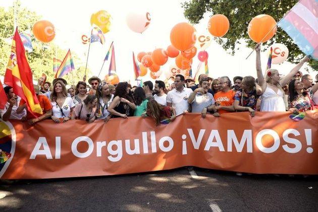 Pancarta de Ciudadanos en la marcha del