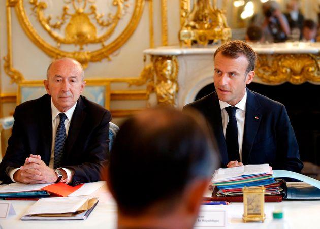 Gérard Collomb a dîné dimanche 7 juillet avec Emmanuel Macron. Photo