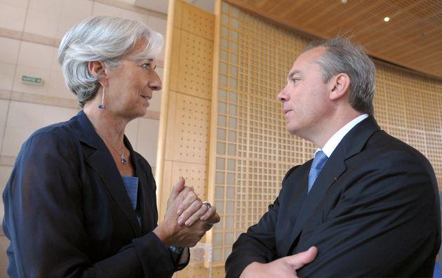 La ministre de l'Économie Christine Lagarde et son directeur de cabinet Stéphane Richard...