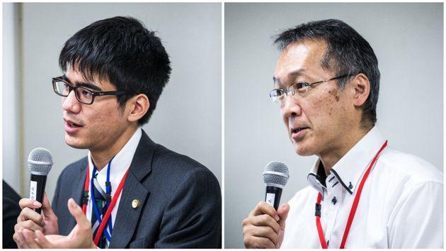 三浦弁護士(左)と中川弁護士