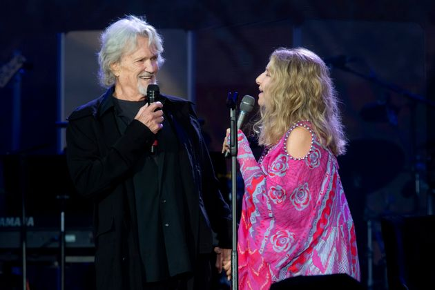 Barbra Streisand performed with Kris Kristofferson during British Summer Time Hyde Park in London,