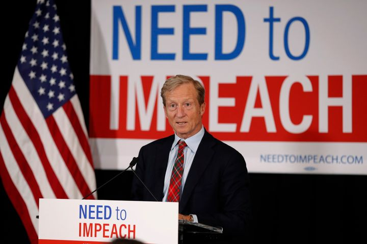 The billionaire hedge fund manager and philanthropist has invested millions into his campaign, Need to Impeach, which calls f