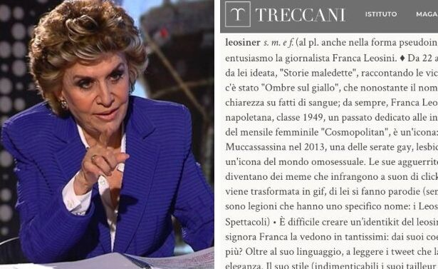 Franca Leosini conquista la Treccani.