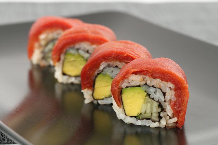 Des «faux» sushis ahimis, une création d'Ocean Hugger Foods, une entreprise établie à New York.