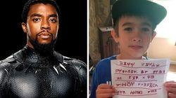 Wakanda Forever! Pequeno fã de 'Pantera Negra' manda mensagem para ator na língua de