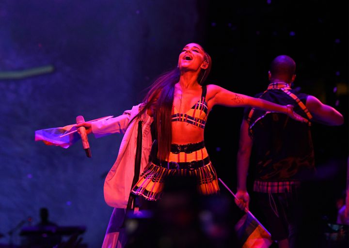 Grande performing at Madison Square Garden.