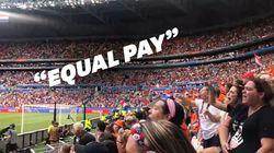 Avant la finale du Mondial, les spectateurs ont fait passer un message au président de la