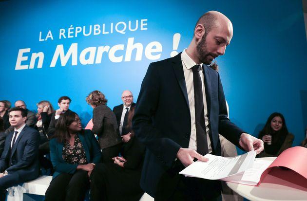 Stanislas Guérini, ici en présentant les premières liste LREM pour les municipales,...
