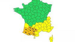 Neuf départements du Sud-Ouest placés en alerte orange aux orages