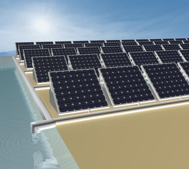 Ces panneaux solaires filtrent également l'eau de
