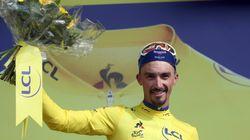 Julian Alaphilippe remporte la 3e étape du Tour et prend le maillot