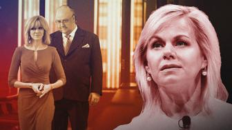 "(L-R): Naomi Watts as Gretchen Carlson and Russell Crowe as Roger Ailes in THE LOUDEST VOICE, ""2009"". Photo Credit: JoJo Whilden/SHOWTIME."