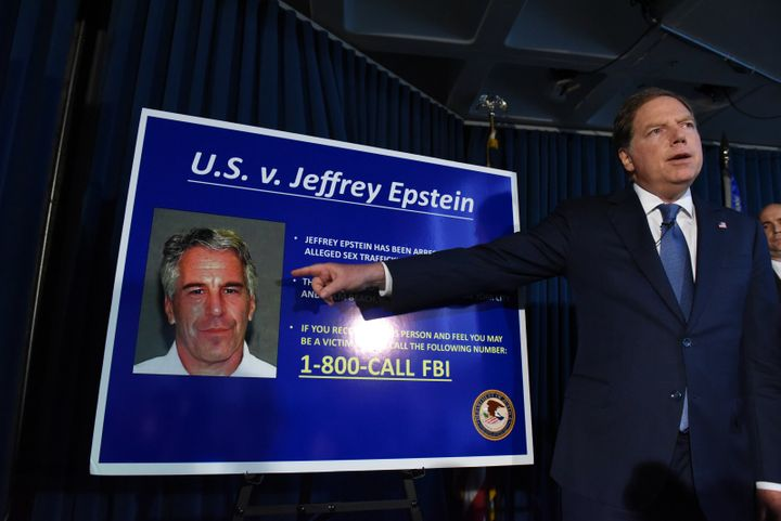 U.S. Attorney for the Southern District of New York Geoffrey Berman announces charges against Jeffery Epstein on July 8, 2019
