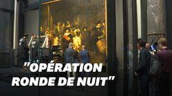 La rénovation en direct du tableau de Rembrandt a commencé, sous les yeux du
