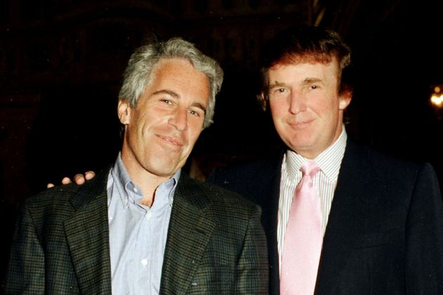 Jeffrey Epstein and Donald Trump in